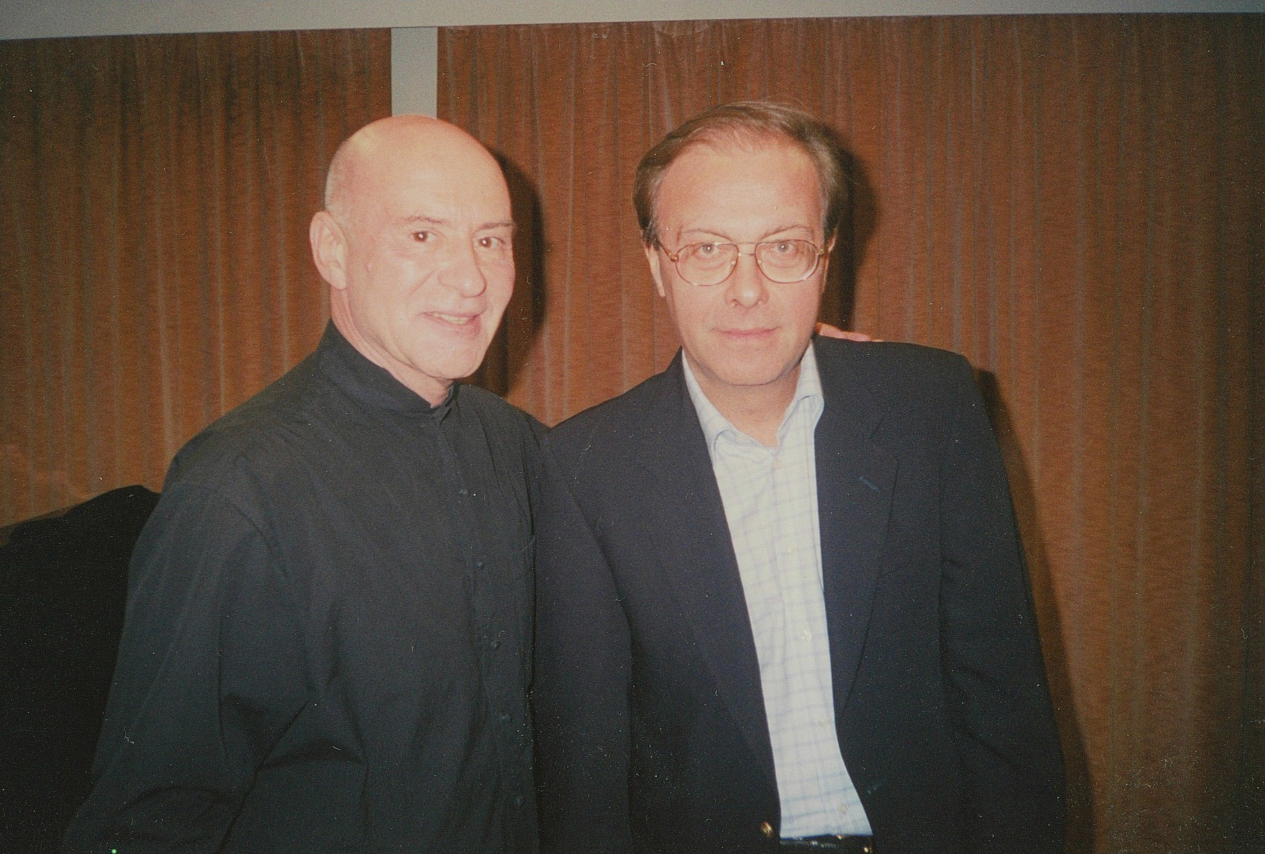 Vakarelis with Christoph Eschenbach