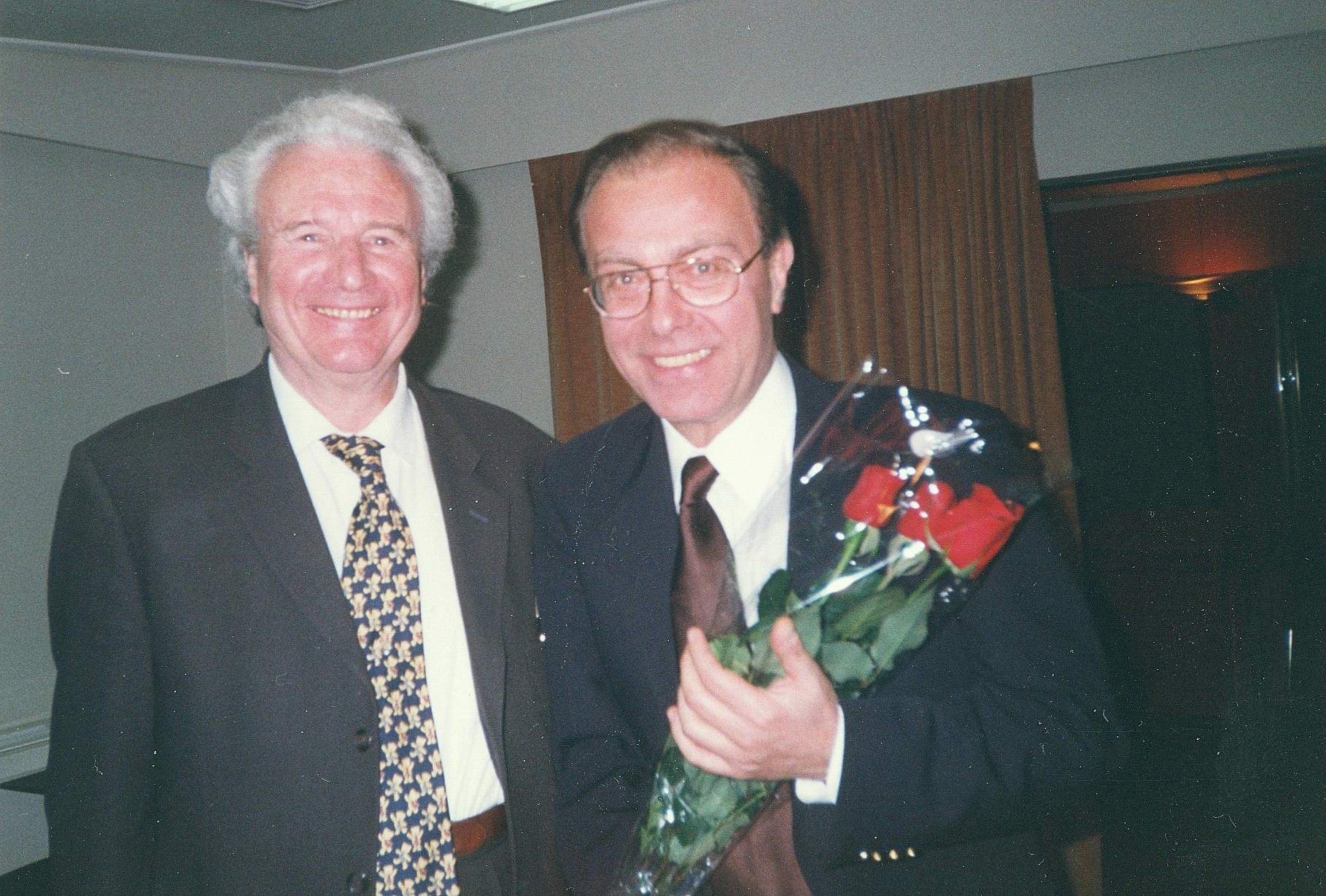Vakarelis with Sir Colin Davis