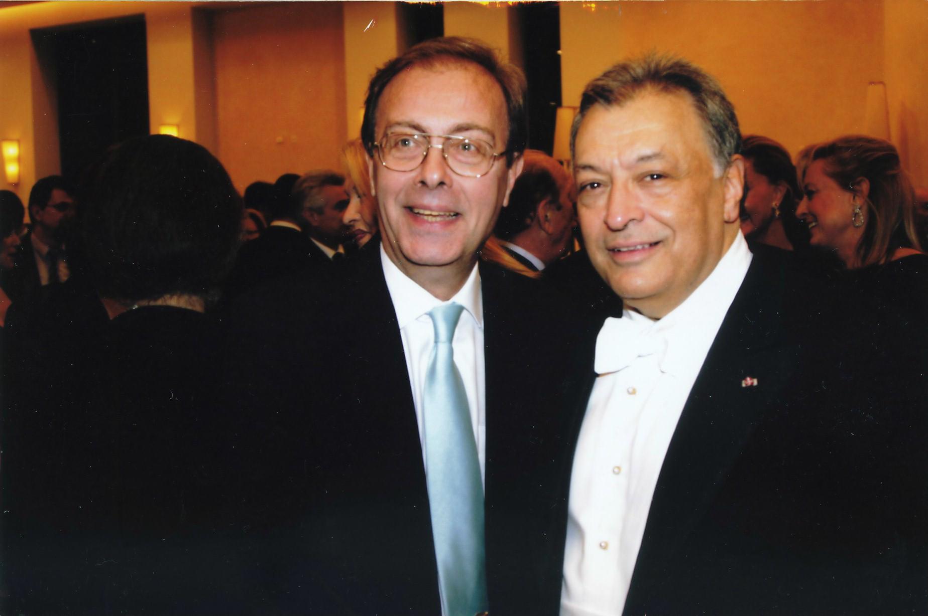 Vakarelis with Zubin Mehta